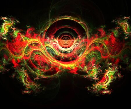 Computer generated colorful fractal artwork for creative art,design and entertainment Stock Photo - 129602884