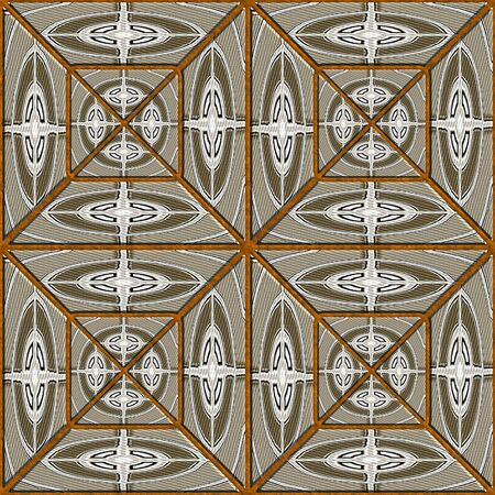 Render of seamless background tile with cloth motive pattern and texture
