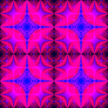 Neon fractal seamless background tile with unique design of colorful palette, fractal pattern and texture