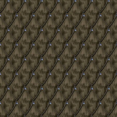 3D rendering of Middle Ages armor seamless background pattern tile Stockfoto - 130346824