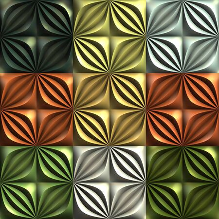 3D render seamless pattern background tile with polished surface and texture