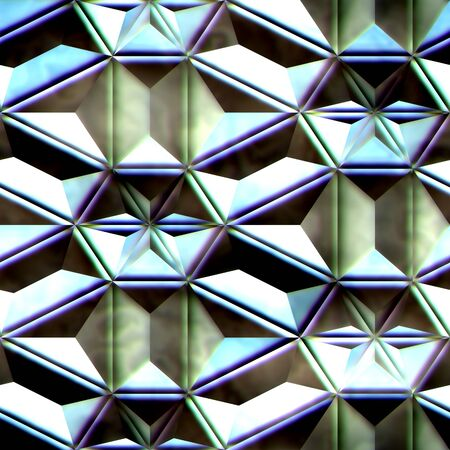 3D render of seamless plastic colorful background tile with embossed kaleidoscope ornament
