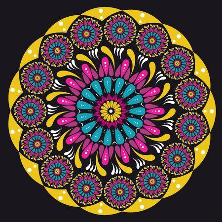 Beautiful colorful vector mandala creative graphic design Vector Illustration