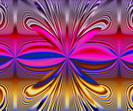 Computer generated abstract colorful fractal artwork for creative design and entertainment Archivio Fotografico - 150625449
