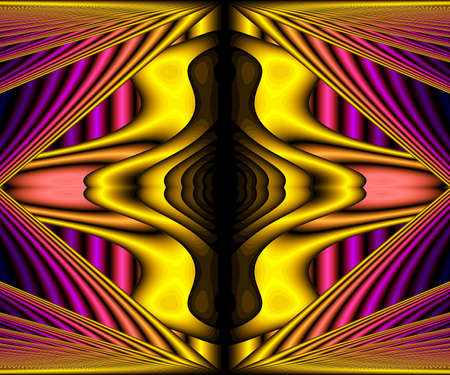 Computer generated abstract colorful fractal artwork for creative design and entertainment Archivio Fotografico - 150625087
