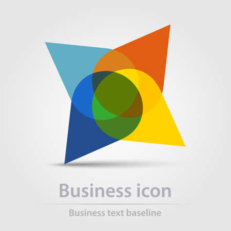 Originally created color abstract business icon for creative design tasks Vector Illustratie