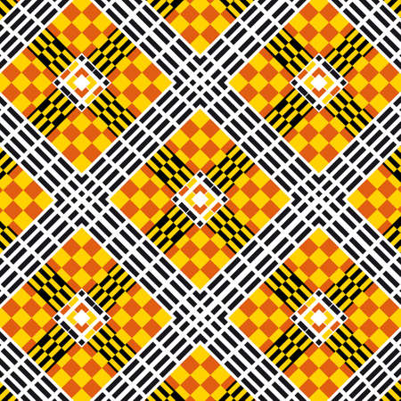 Abstract generative art design of color pattern vector tile for creative design Vetores