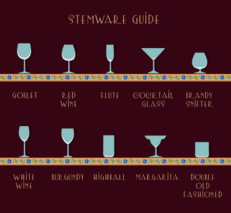 gafas de guía. guía para copas. juego de vasos