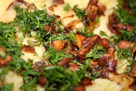 fennel: patata con las setas y el hinojo