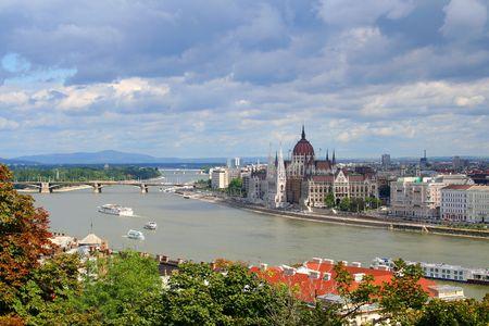 Budapest, le parlement  Banque d'images