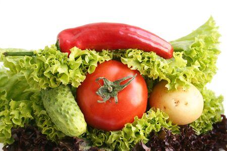 Sandwich from vegetables. Still life