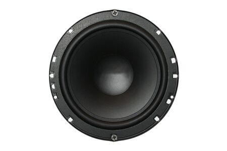loud speaker: Car audio system component. Loud speaker Stock Photo