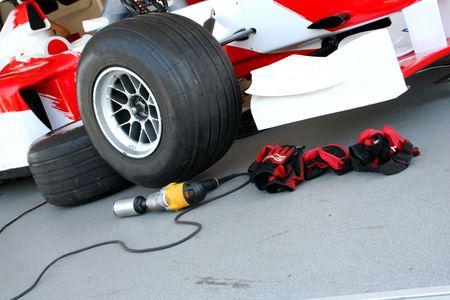 Formule-1 de course pit-stop dispositifs  Banque d'images