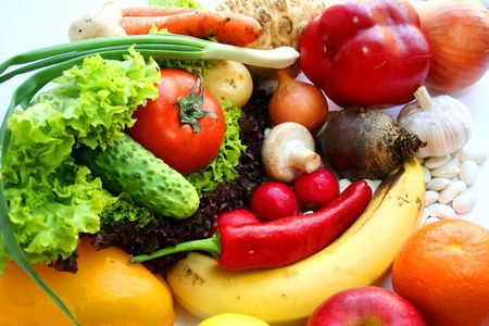 Fruits and vegetables. Still life Stock Photo