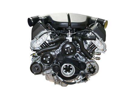 The auto Car engine isolated
