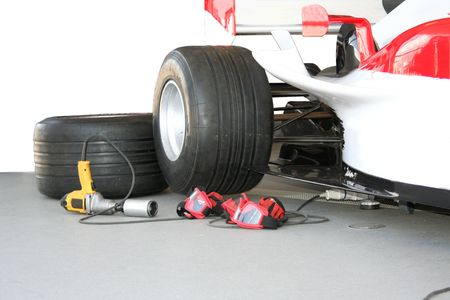 formula one Pit stop team tools