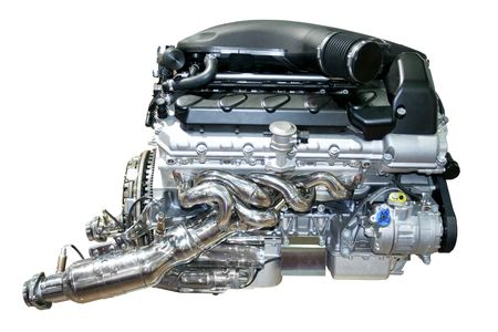 The auto Car engine isolated