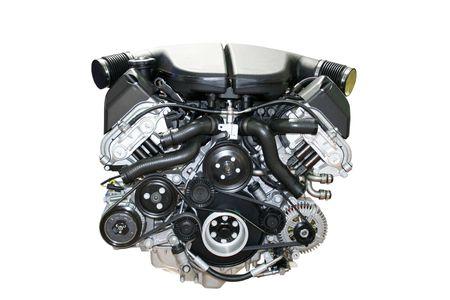 Le moteur de voiture automobile isol� Banque d'images