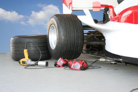 pit stop: Formula - 1 Pit stop team tools