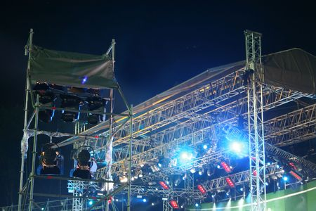 Stage lights. On the show photo