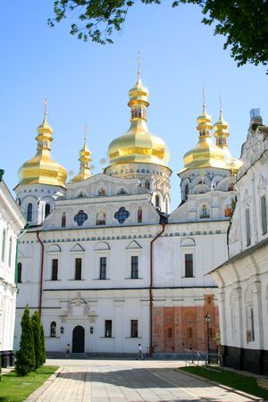 Uspenskiy temple in Pecherskaya Lavra - religious edifice, Kiev, Ukraine Stock Photo - 2248252