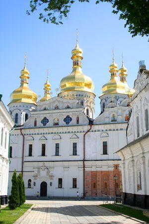 Uspenskiy temple in Pecherskaya Lavra - religious edifice, Kiev, Ukraine