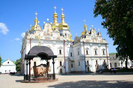 Uspanskiy temple in Pecherskaya Lavra - religious edifice, Kiev, Ukraine