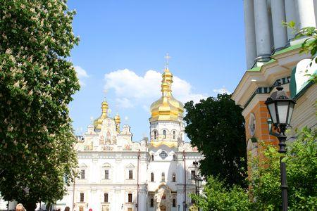 edifice: Pecherskaya Lavra - religious edifice, Kiev, Ukraine Stock Photo