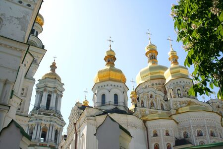 Assumption  temple, Pecherskaya Lavra - religious edifice, Kiev, Ukraine