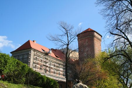 Road to Wawel Castle. Krakow. Poland. Medieval history memorial