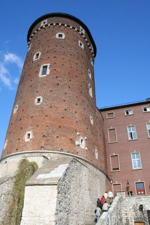 Wawel Castle tower. Krakow. Poland. Medieval history memorial Stock Photo