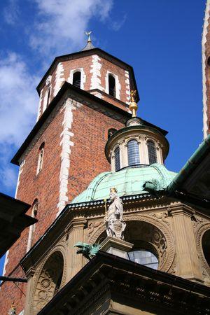 Wawel Castle. Krakow. Poland. Medieval history memorial