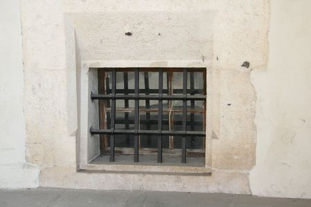 Cage on the window. prison