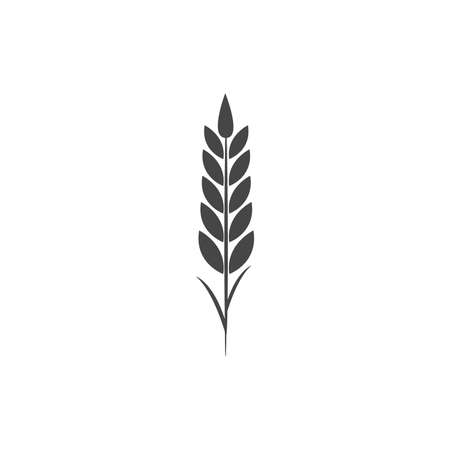 Minimalistic wheat icon. Simple barley, weat, rice vector illustration. Wheat vector isolated on white background. Farm and Bakery Symbol 向量圖像