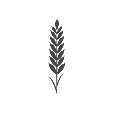 Minimalistic wheat icon. Simple barley, weat, rice vector illustration. Wheat vector isolated on white background. Farm and Bakery Symbol