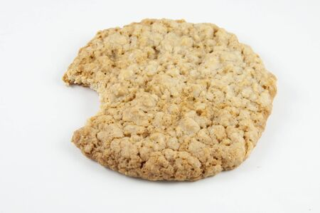 oatmeal: An oatmeal cookie isolated on white