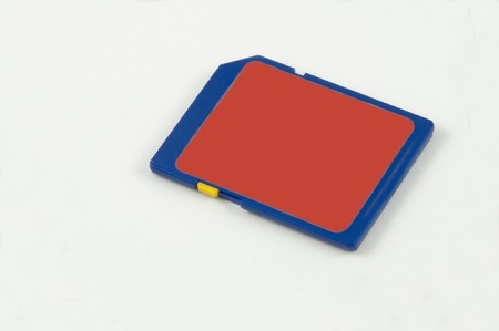 An SD card isolated on a white background photo