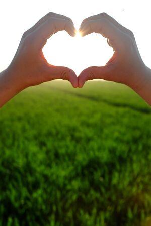 beautiful jesus: Heart symbol Stock Photo