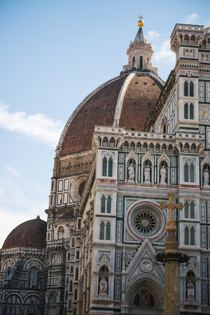 firenze: Photo of the Duomo di Firenze taken on a sunny morning. Stock Photo