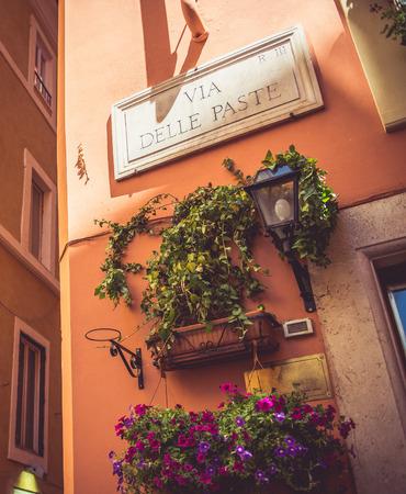 nice looking: Nice looking corner on the italian street