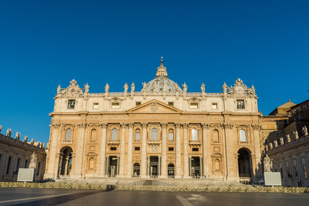peter's: Photo of Saint Peters Basilica and square in Vatican.