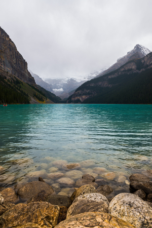 summit lake: Photo of the lake louis in Canada