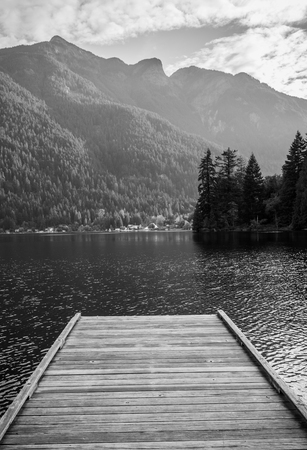 pier: Photo of a pier in canadian mountains