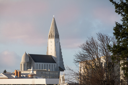 Photo of Hallgrim church in Reykjavik, Iceland