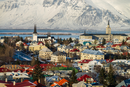 Photo of Reykjaviks panorama, Iceland 版權商用圖片
