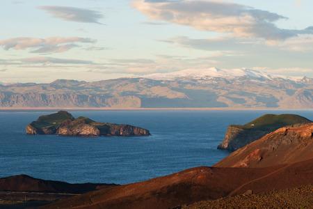 Photo of the Rocks and the coast at vestmannaeyjar island Stock Photo