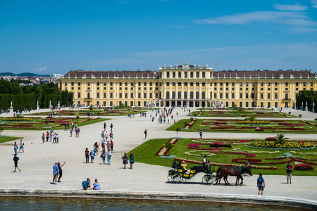 Schuenbrunn Palace - former imperial summer residence, Vienna, Austria