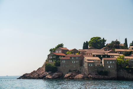 Sveti Stefan is a small islet and 5-star hotel resort on the Adriatic coast of Montenegro, approximately 6 kilometres southeast of Budva. The resort is known commercially as Aman Sveti Stefan and includes part of the mainland, where the Villa Miločer is located.
