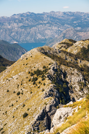 Lovćen is a mountain and national park in southwestern Montenegro. It is the inspiration behind the name of Montenegro; Crna Gora, was first mentioned in a charter issued by Stefan Milutin in 1276, the name Montenegro deriving from the appearance of Mount Lovćen when covered in dense forests.