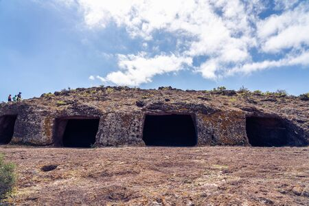 Cuatro Puertas, aka four doors caves or Cueva de los Papeles, archaeological site in Gran Canaria, Spain.
